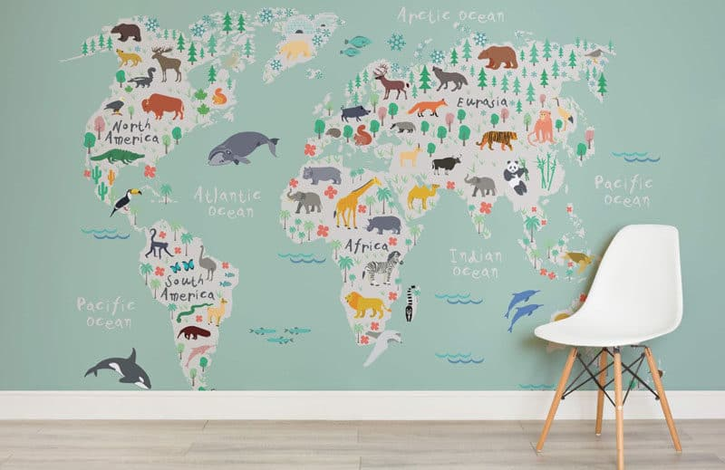 6 Different Types of Wall Maps of The World