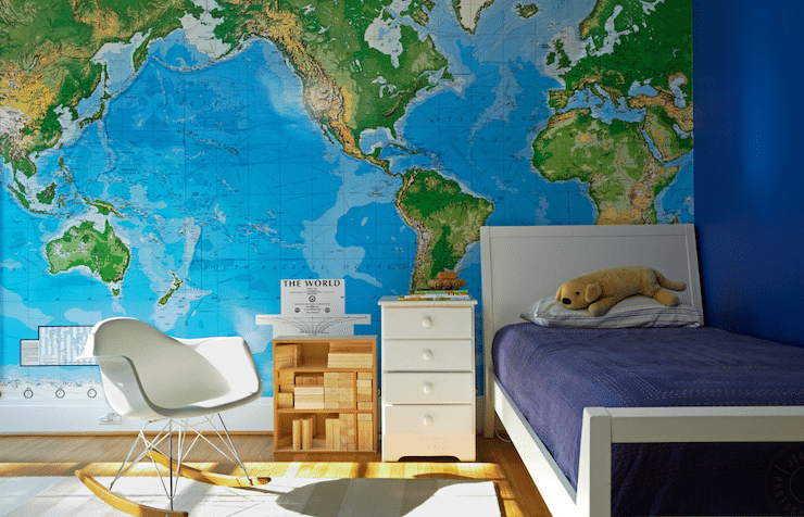 laminated world wall maps